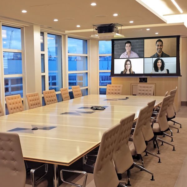 Boardroom with video conferencing