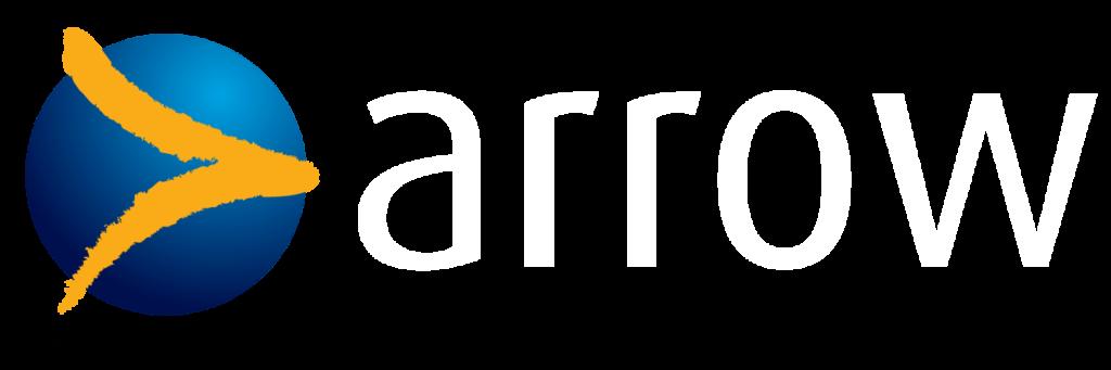 arrow logo white
