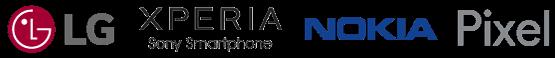 Smartphone manufacturers logos
